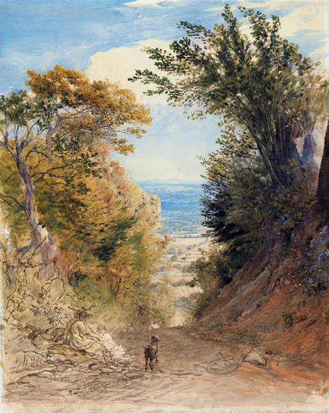 Wall Art - Painting - View From Rook's Hill, Kent - Digital Remastered Edition by Samuel Palmer