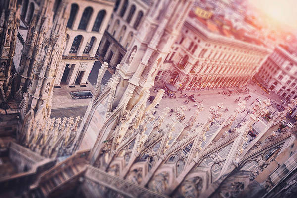 Across Photograph - View From The Duomo Milan Italy  by Carol Japp
