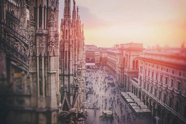Duomo Photograph - View From The Duomo Rooftop Milan Italy  by Carol Japp