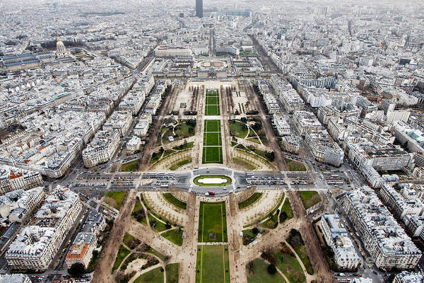Wall Art - Photograph - View From The Eiffel Tower, Down The by Steven Bostock