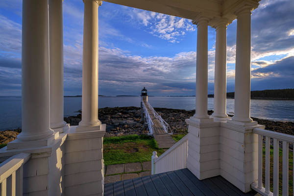 Photograph - View From The Lightkeeper's House by Rick Berk
