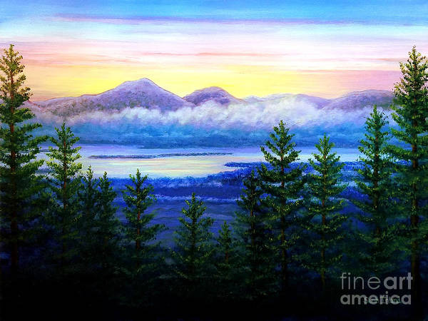 Adirondack Mountains Painting - View From The Loft by Sarah Irland