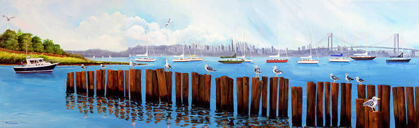 Painting - View From The Moshier's Tiki Bar by Phyllis London