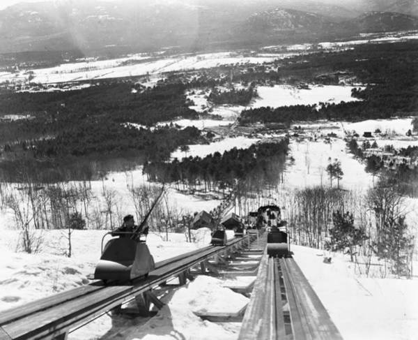 Skiing Photograph - View From The Summit Of Cranmore by Bert Morgan