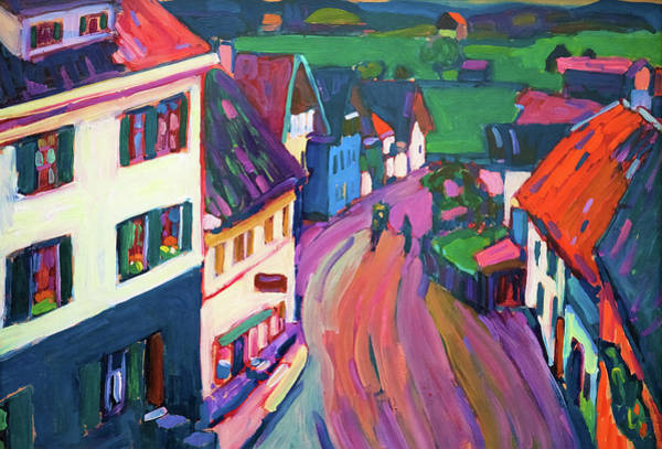Wall Art - Painting - View From The Window Of The Griesbrau - Digital Remastered Edition by Wassily Kandinsky