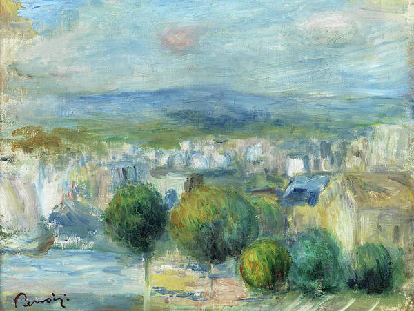 Wall Art - Painting - View From The Window On City And Port by Pierre-Auguste Renoir