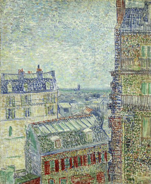 Wall Art - Painting - View From Theo's Apartment, 1887 by Vincent Van Gogh