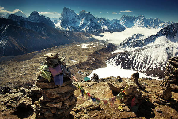 Gokyo Photograph - View From Top Of Gokyo Ri by Presented By Zolashine