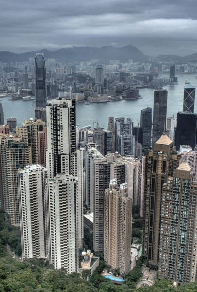 Kowloon Photograph - View From Victoria Peak In Hong Kong by Pola Damonte Via Getty Images