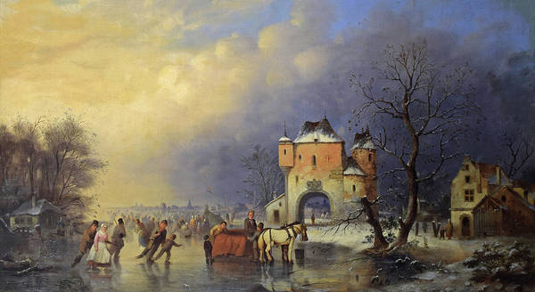 Wall Art - Painting - View In Holland, 1852 by Johan-Mengels Culverhouse