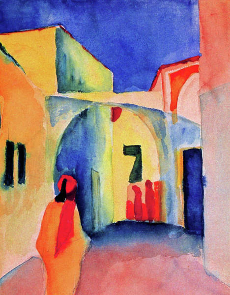 Wall Art - Painting - View Into A Lane - Digital Remastered Edition by August Macke