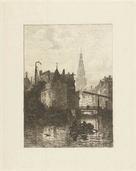 Wall Art - Painting - View Irish Skull Tower In Amsterdam, Johan Conrad Greive, 1847 - 1891 by Johan Conrad Greive
