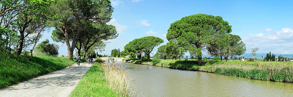 Wall Art - Photograph - View Of A Canal, Canal Du Midi, Homps by Panoramic Images