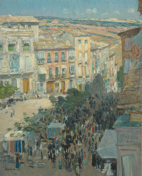 Wall Art - Painting - View Of A Southern French City by Childe Hassam