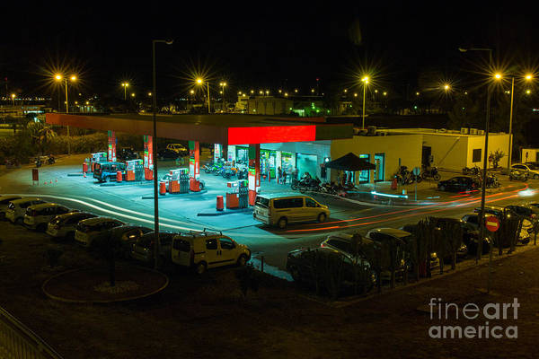 Wall Art - Photograph - View Of A Urban Gas Station Working In by Mauro Rodrigues