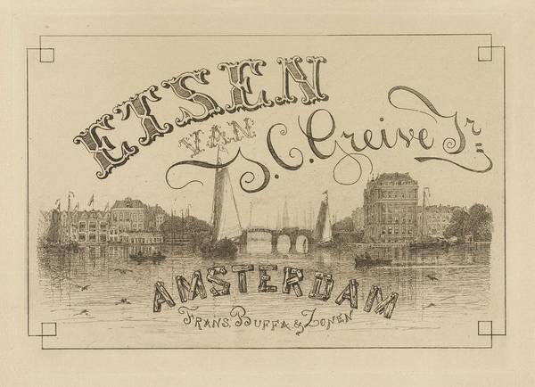 Wall Art - Painting - View Of Amsterdam, Johan Conrad Greive, 1847 - 1891 by Johan Conrad Greive