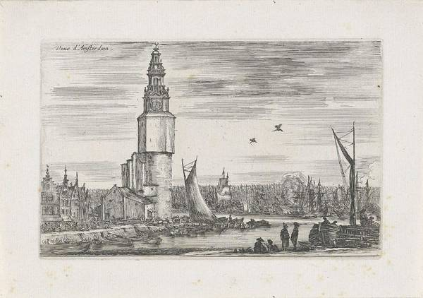 Wall Art - Painting - View Of Amsterdam, Stefano Della Bella, 1647 by Stefano della Bella