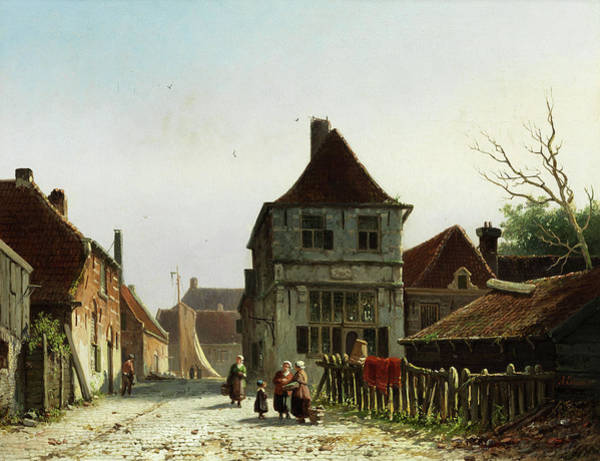 Wall Art - Painting - View Of An Alley In Hoorn by Adrianus Eversen