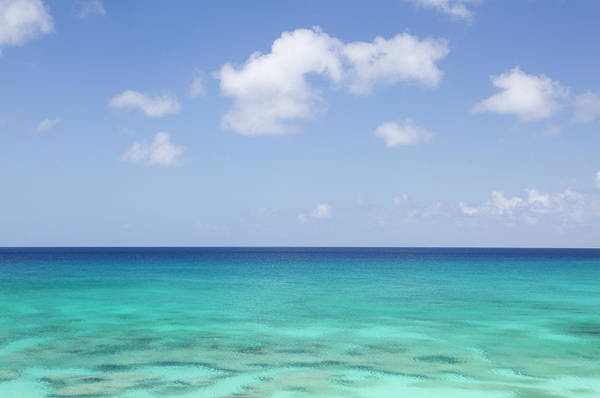 Turks And Caicos Islands Wall Art - Photograph - View Of Aqua Colored Ocean With by Lisa Romerein