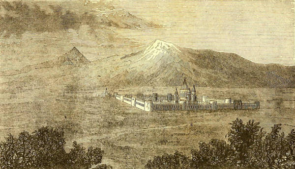 Painting - View Of Ararat And The Monastery Of Echmiadzin 1933 by Celestial Images