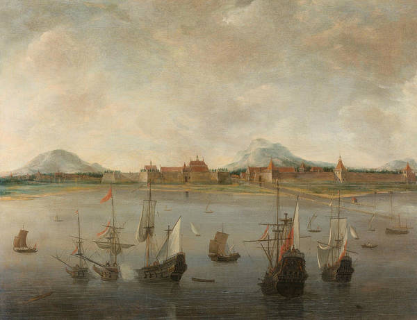 Wall Art - Painting - View Of Batavia by Hendrick Dubbels