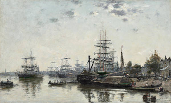 Wall Art - Painting - View Of Bordeaux, From The Quai Des Chartrons, 1874 by Eugene Boudin