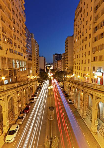 Boulevard Photograph - View Of Borges De Medeiros Avenue by Jaim Simoes Oliveira