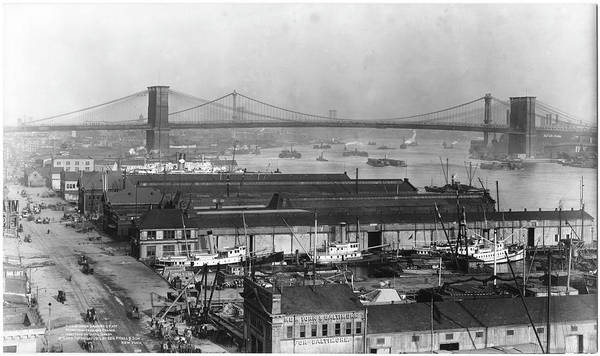 Williamsburg Photograph - View Of Bridges by The New York Historical Society