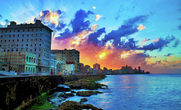 Wall Art - Photograph - View Of Buildings And Sea During Sunset by Diogo Salles