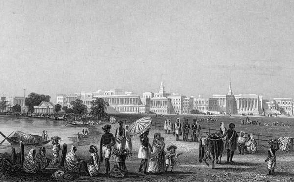Pencil Drawing Photograph - View Of Calcutta From The Esplanade by Hulton Archive