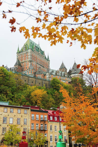 Quebec City Photograph - View Of Chateau Frontenac From Quartier by Stuart Westmorland