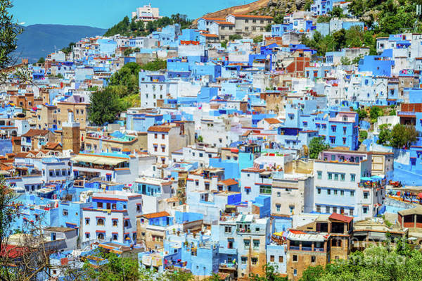 Wall Art - Photograph - View Of Chefchaouen by Louise Poggianti