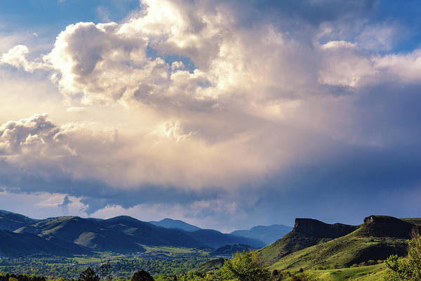 Photograph - View Of Clouds Over Golden, Colorado by Jeanette Fellows