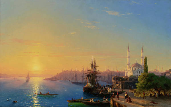Wall Art - Painting - View Of Constantinople And The Bosphorus, 19th Century by Ivan Konstantinovich Aivazovsky