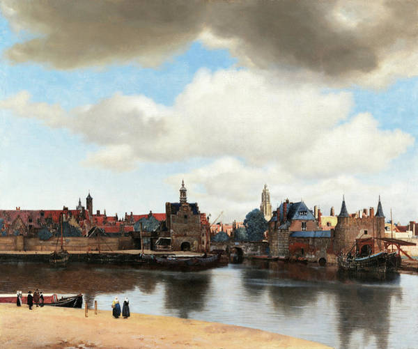Wall Art - Painting - View Of Delft, 1661 by Johannes Vermeer