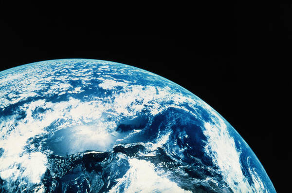 Geology Photograph - View Of Earth In Space by Internetwork Media