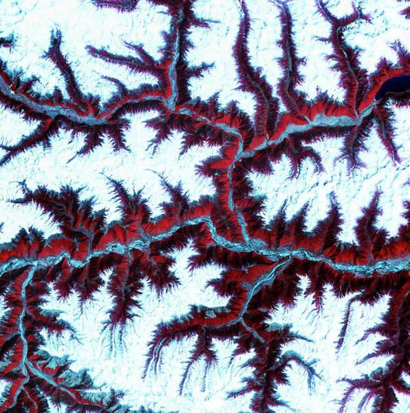 Wall Art - Photograph - View Of Eastern Himalayas by Nasa/spl