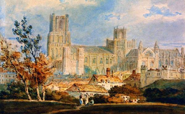 Wall Art - Painting - View Of Ely Cathedral - Digital Remastered Edition by William Turner