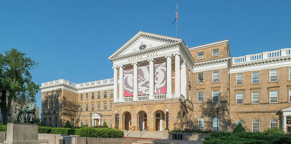 Wall Art - Photograph - View Of Entrance To Bascom Hall by Panoramic Images
