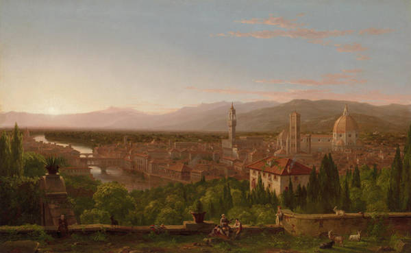 Wall Art - Painting - View Of Florence, 1837 by Thomas Cole