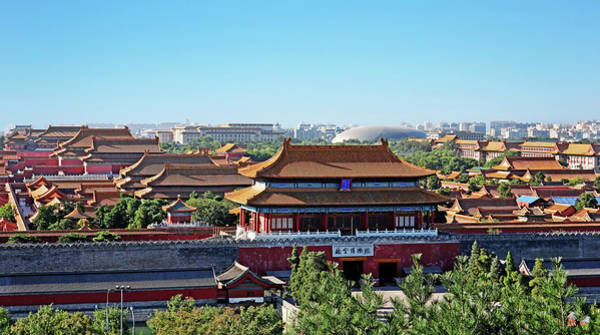Wall Art - Photograph - View Of Forbidden City - Beijing - China by Brendan Reals