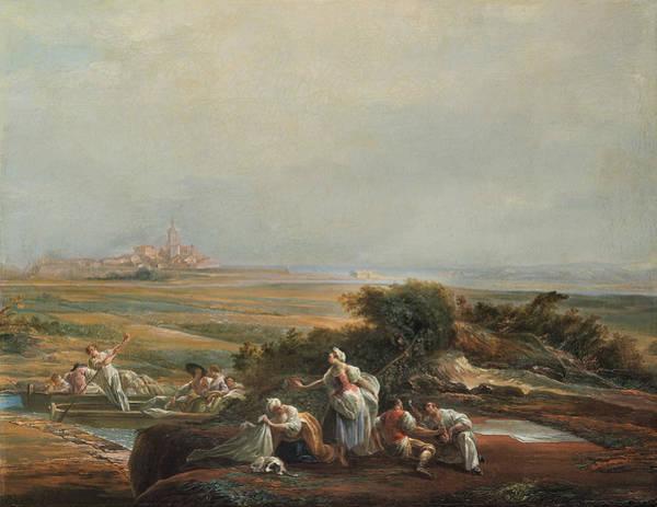 Painting - View Of Fuenterrabia by Luis Paret Y Alcazar