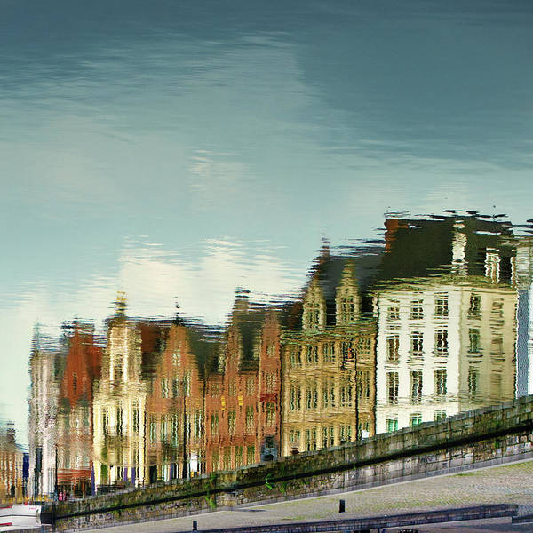 Wall Art - Photograph - View Of Ghent Reflection In Water by Elisabeth Schmitt