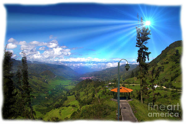Wall Art - Photograph - View Of Giron Valley From Portete V by Al Bourassa