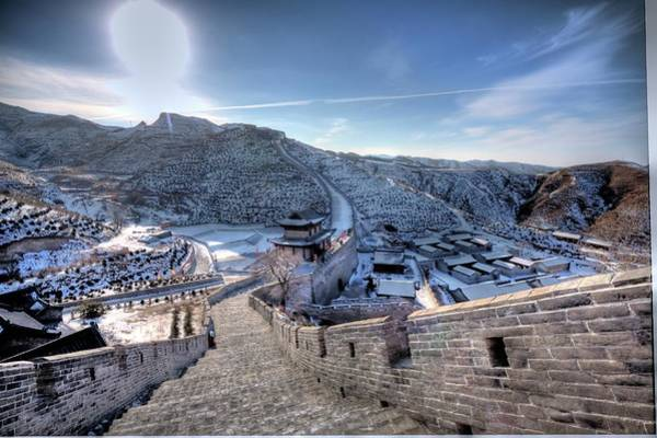 Chinese Culture Photograph - View Of Great Wall by Photograph By Sunny Ip.