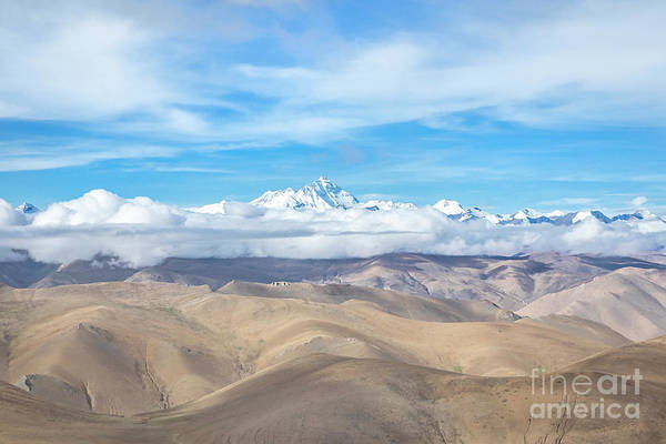 Wall Art - Photograph - View Of Himalayan Mountains In Tibet by Julia Hiebaum