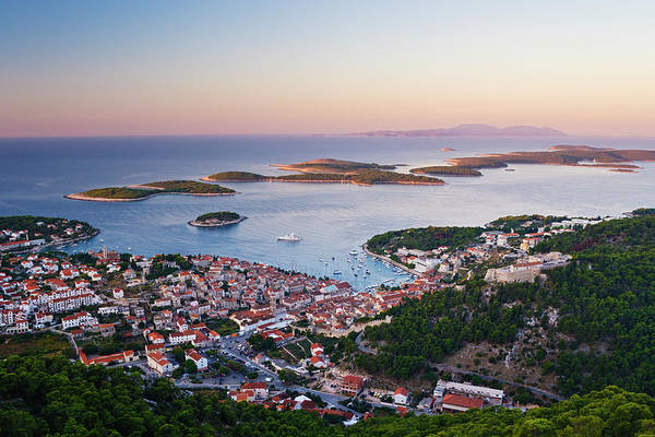 Wall Art - Photograph - View Of Hvar Town At Dawn by Jeremy Woodhouse