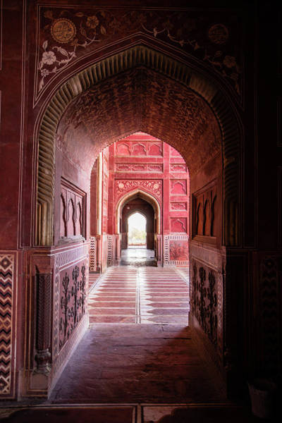 Wall Art - Photograph - View Of Interior Taj Mahal, India by Panoramic Images