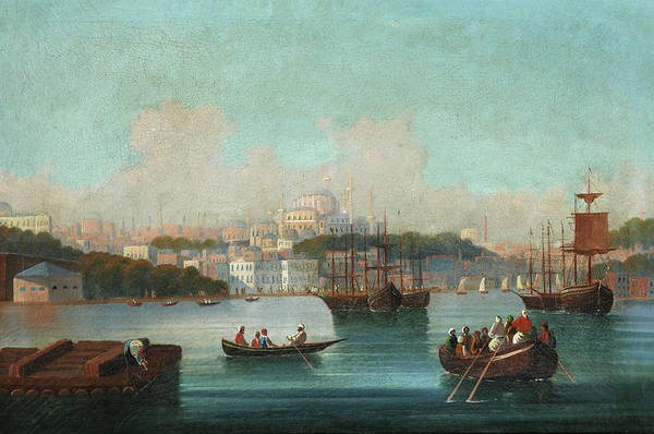 Wall Art - Painting - View Of Istanbul - 1 by 19th Century