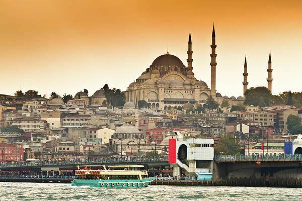 Suleymaniye Mosque Photograph - View Of Istanbul by (c) Thanachai Wachiraworakam